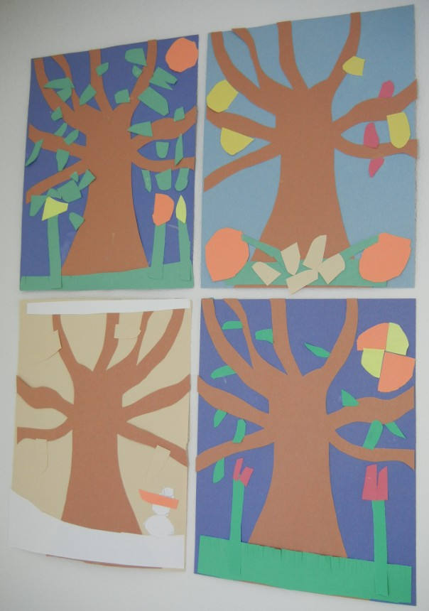 Construction Paper Four Seasons