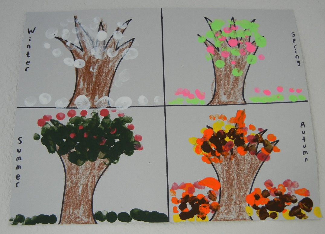 Four Seasons with Finger Painting