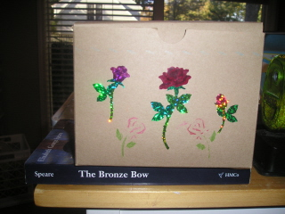 box with roses...