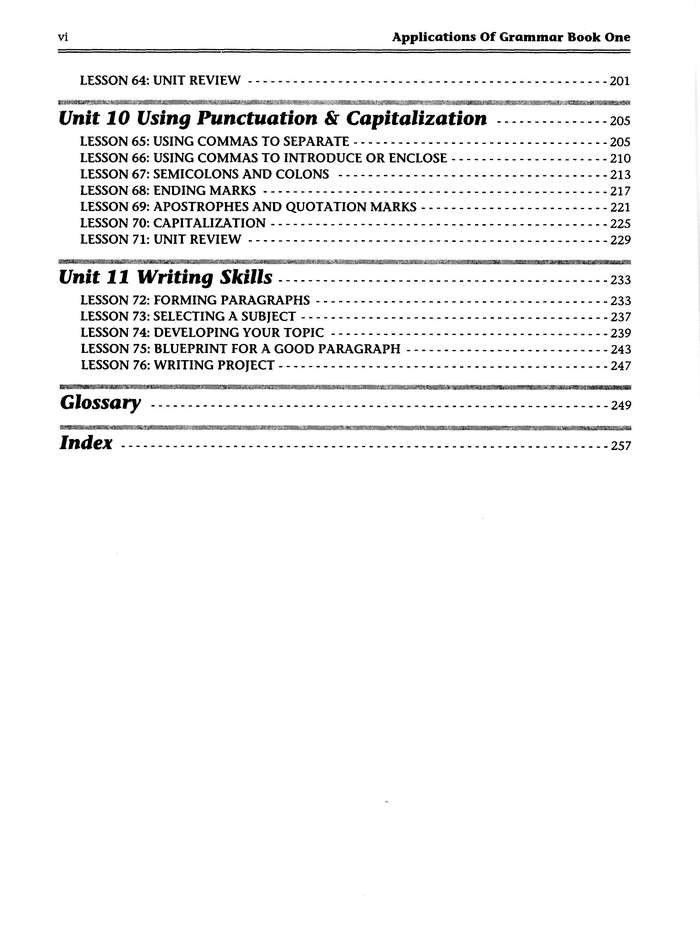 AOG table of contents, page 3